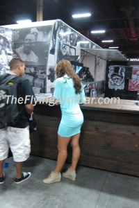 Miesha Tate signing autographs at the UFC Fan Expo 2013