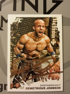 Demetrious Johnson Signed UFC 2011 Topps Moment of Truth Card
