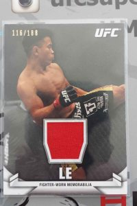 2013 Topps UFC Knockout Cung Le Fighter Worn Relic
