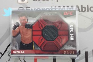 2013 Topps UFC Knockout Fight Mat Relic Card Cung Le