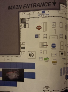 2014 UFC Fan Expo Floor Plan Detailed Left