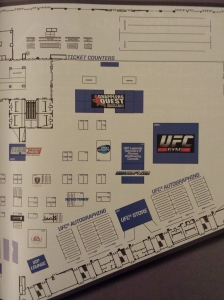 2014 UFC Fan Expo Floor Plan Detailed Right